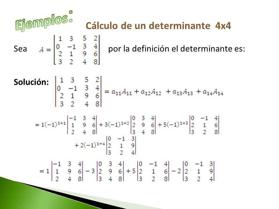 4x4 Determinante Berechnen : lgebra lineal determinante n x n ppt video online descargar ~ Themetempest.com Abrechnung