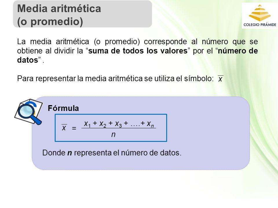 Media aritmética (o promedio)