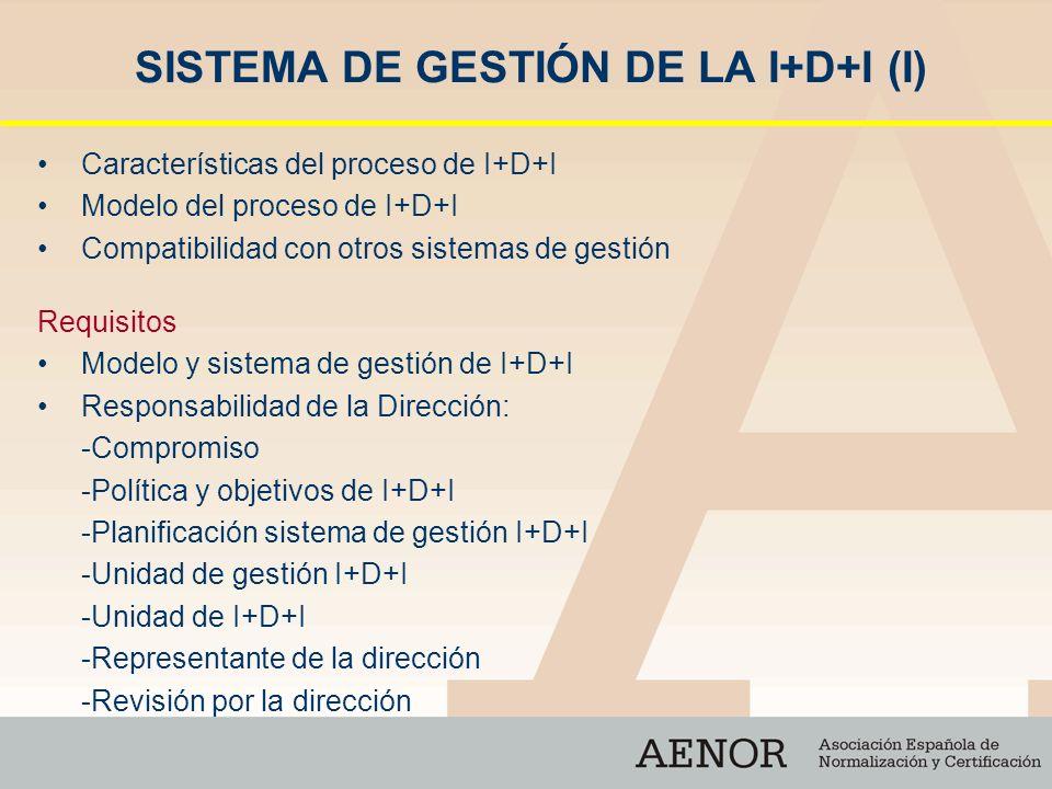SISTEMA DE GESTIÓN DE LA I+D+I (I)