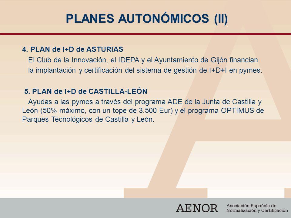 PLANES AUTONÓMICOS (II)