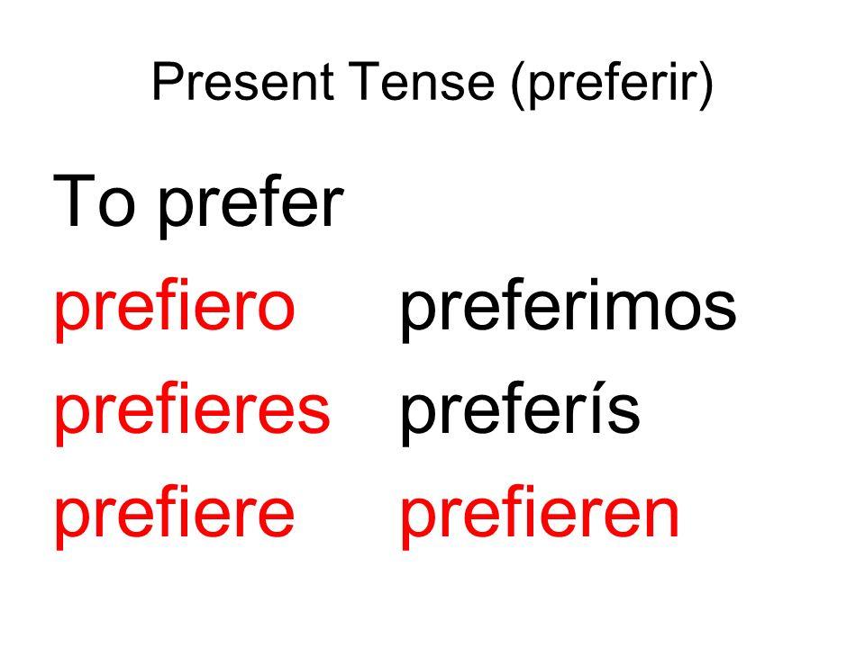 Present Tense (preferir)
