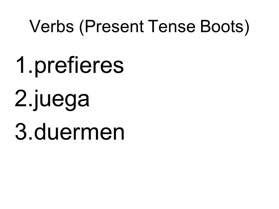 Verbs (Present Tense Boots)