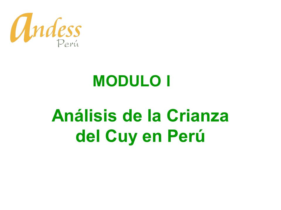 Análisis de la Crianza del Cuy en Perú