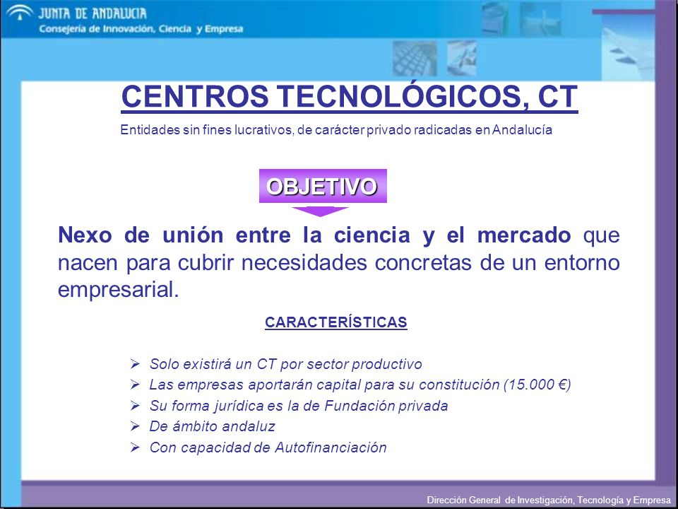 CENTROS TECNOLÓGICOS, CT