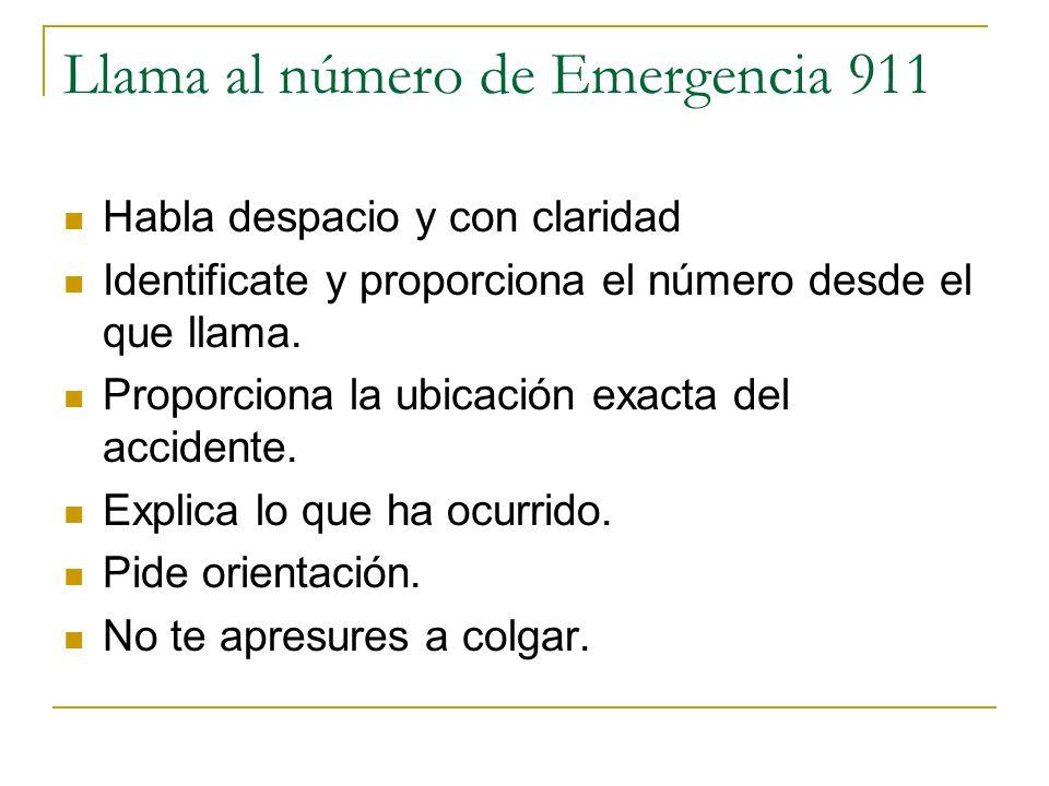Llama al número de Emergencia 911