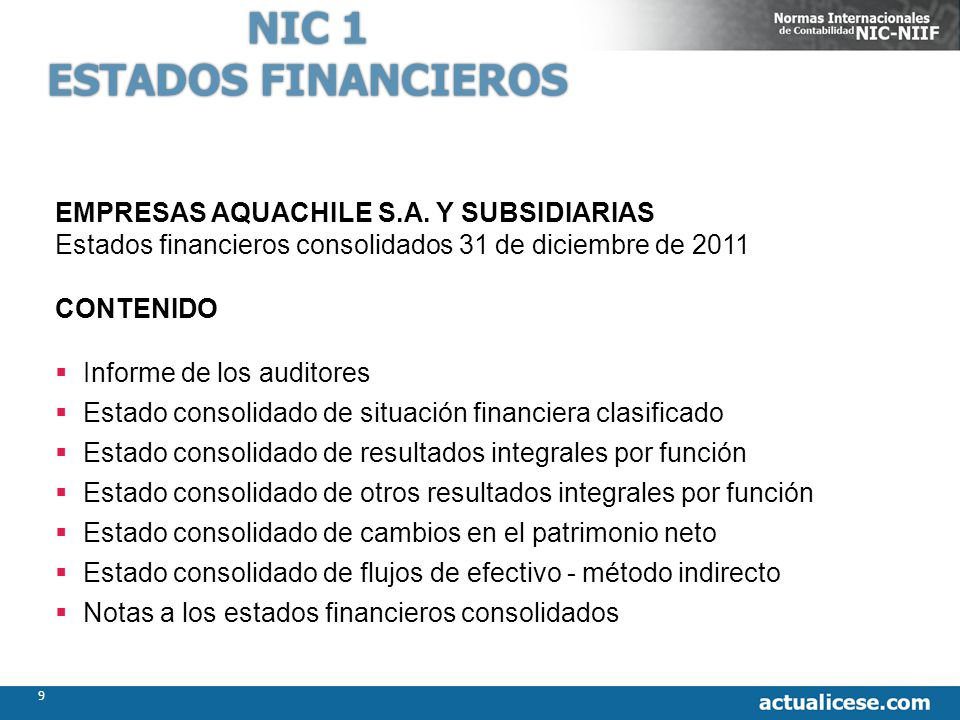 82 Estados Financieros Consolidados Diciembre 2011