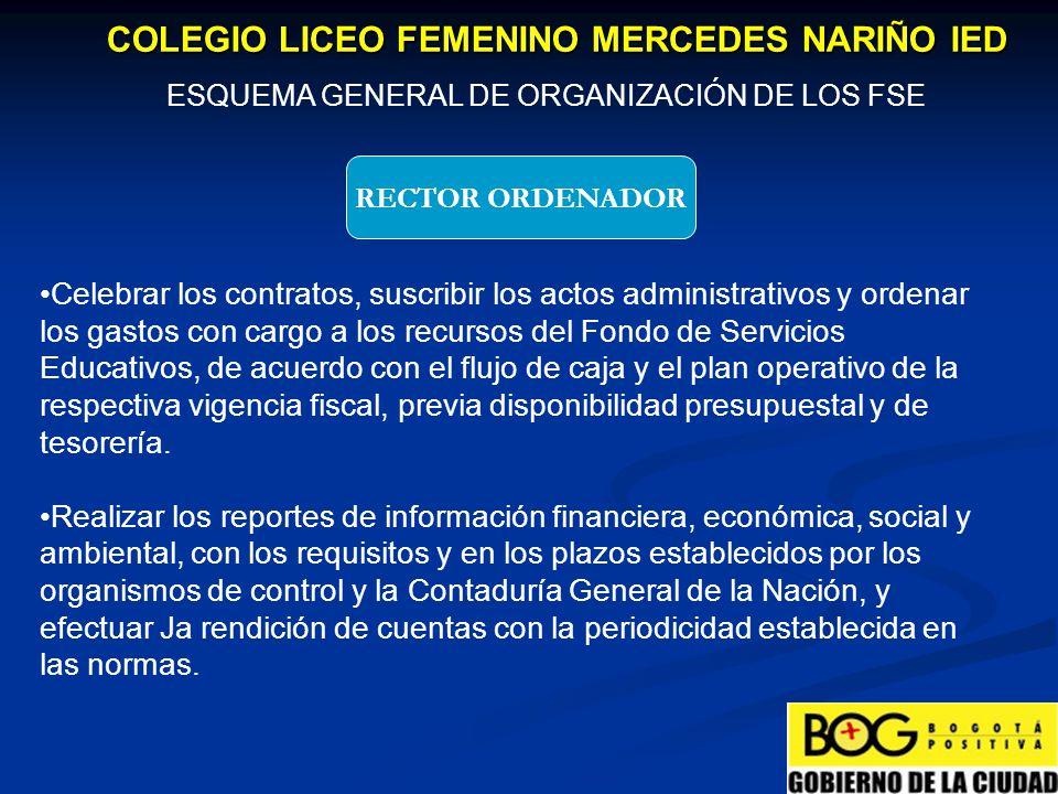 ESQUEMA GENERAL DE ORGANIZACIÓN DE LOS FSE