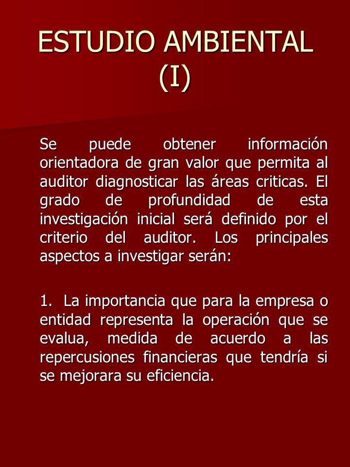 ESTUDIO AMBIENTAL (I)