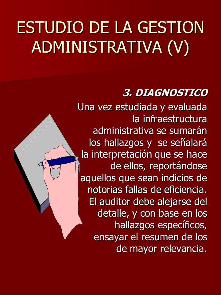 ESTUDIO DE LA GESTION ADMINISTRATIVA (V)