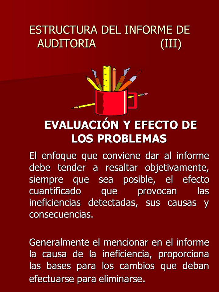 ESTRUCTURA DEL INFORME DE AUDITORIA (III)