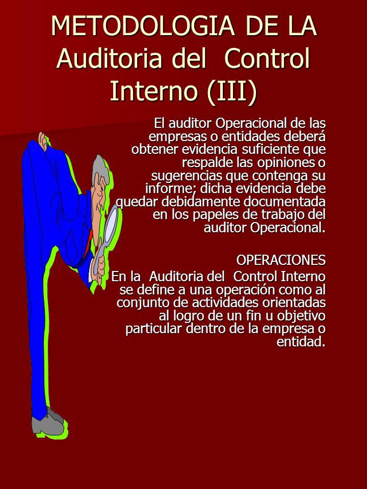 METODOLOGIA DE LA Auditoria del Control Interno (III)
