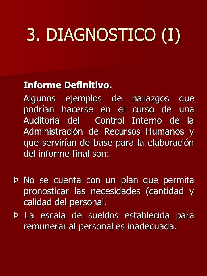 3. DIAGNOSTICO (I) Informe Definitivo.