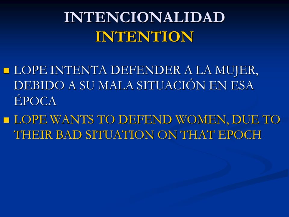 INTENCIONALIDAD INTENTION