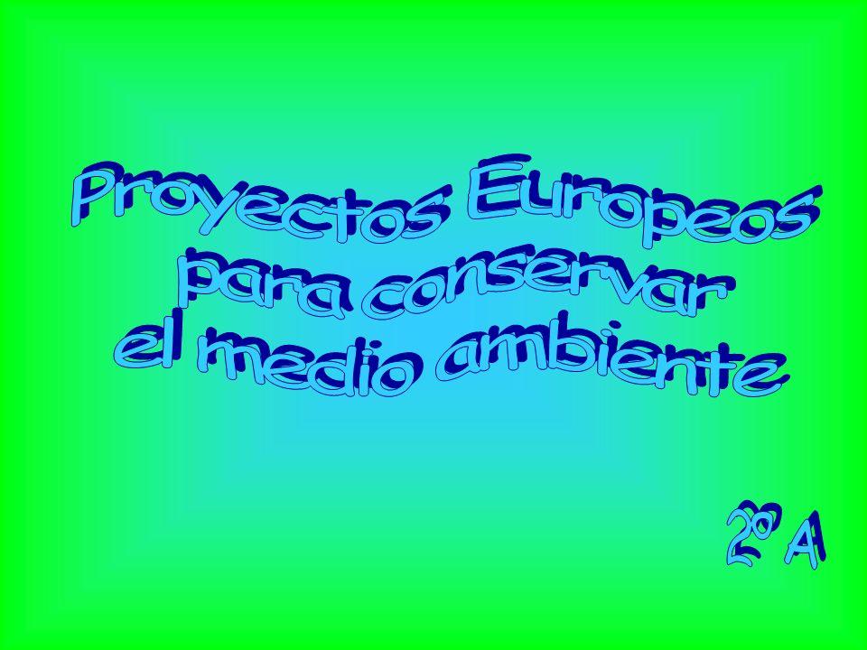 Proyectos Europeos para conservar el medio ambiente 2º A