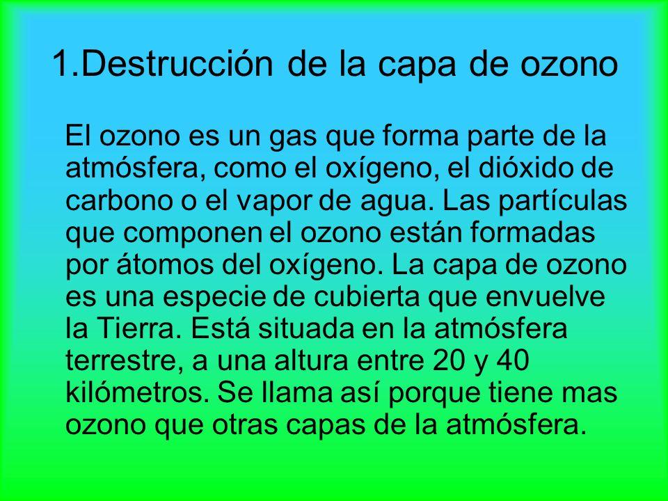 1.Destrucción de la capa de ozono