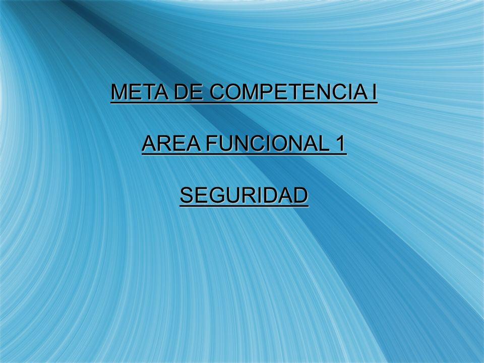 META DE COMPETENCIA I AREA FUNCIONAL 1 SEGURIDAD
