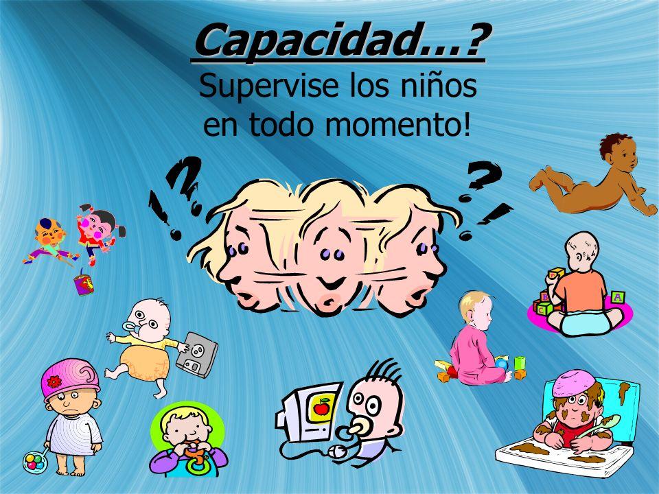 Capacidad… Supervise los niños en todo momento!