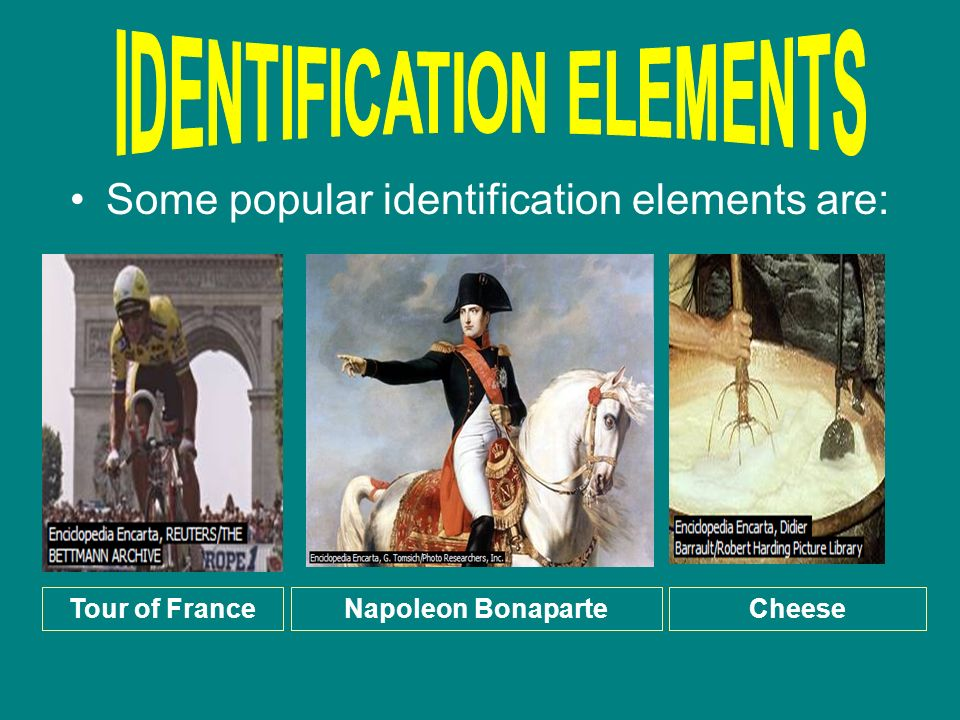 IDENTIFICATION ELEMENTS