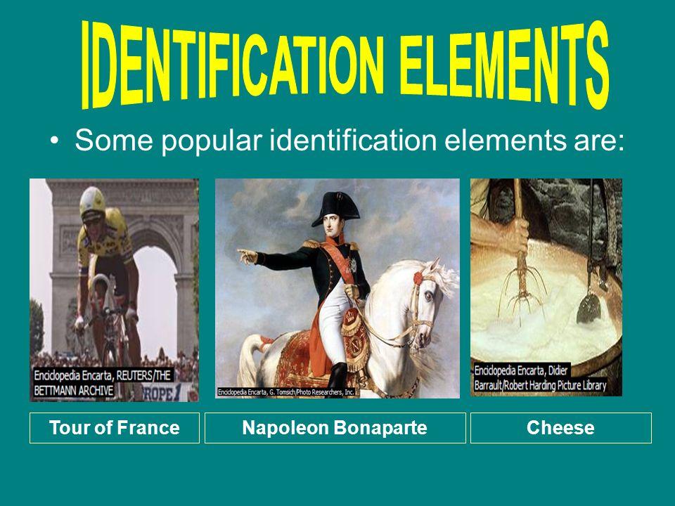 IDENTIFICATION ELEMENTS