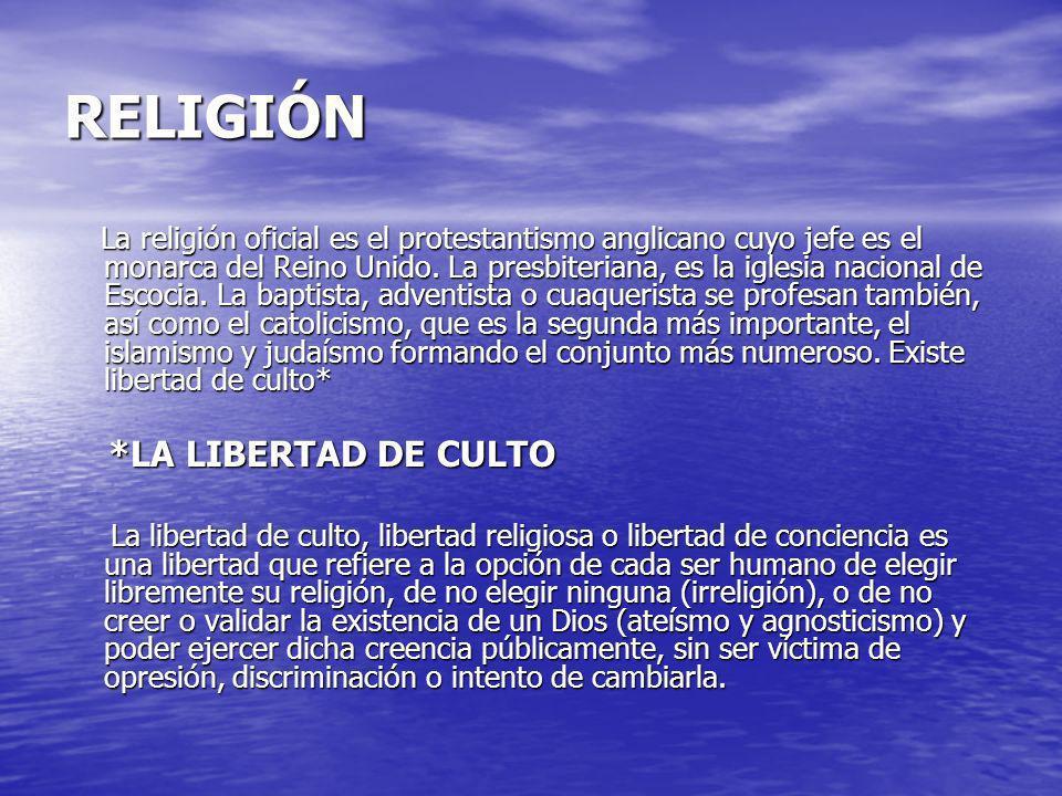 RELIGIÓN *LA LIBERTAD DE CULTO