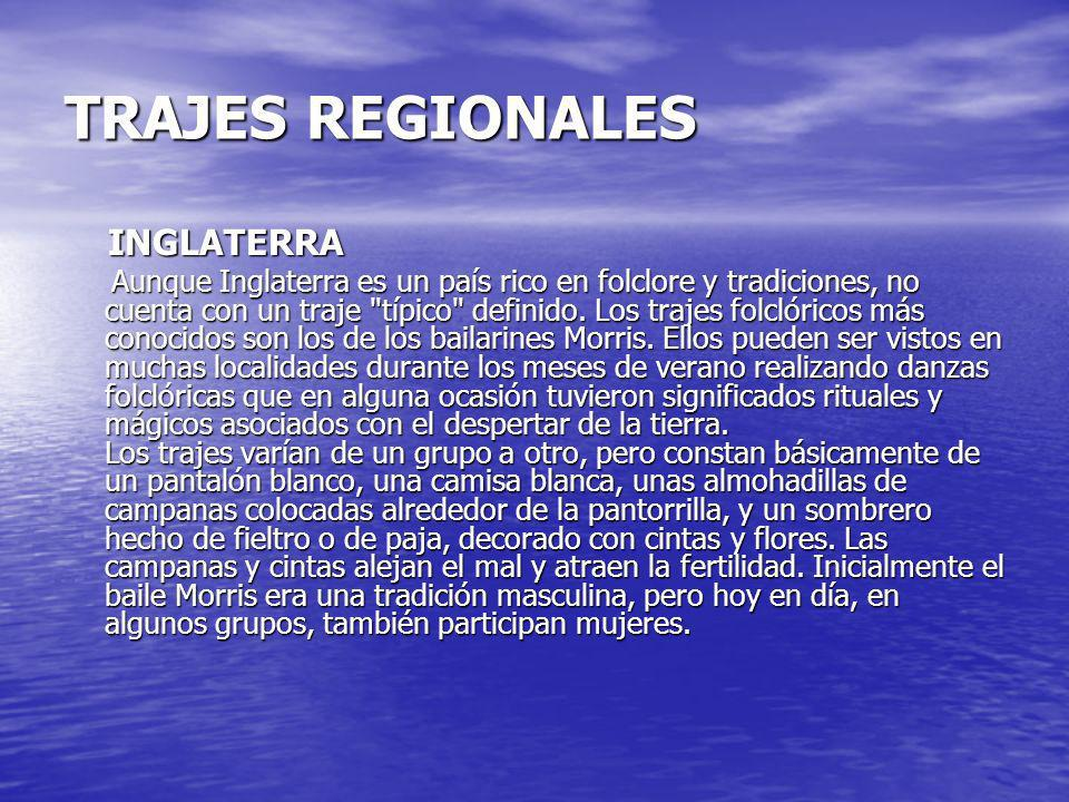 TRAJES REGIONALES INGLATERRA