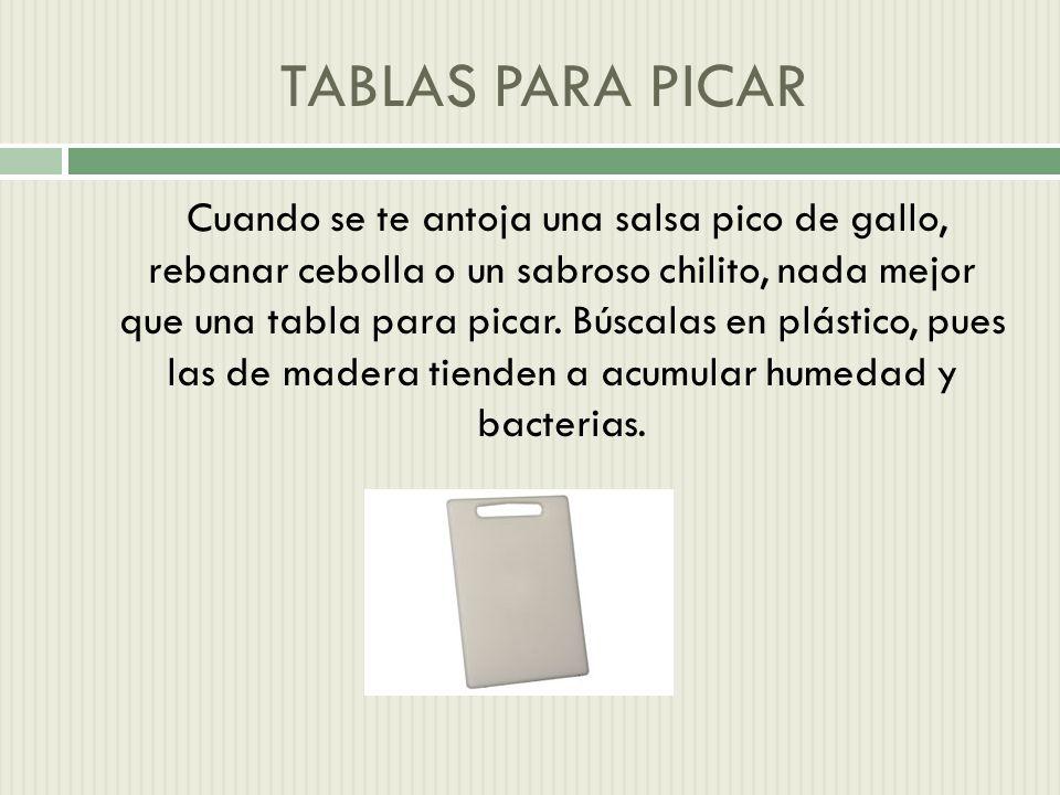 TABLAS PARA PICAR