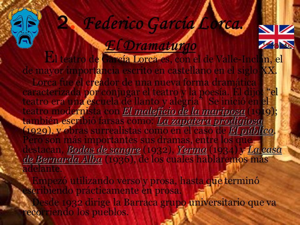 2. Federico García Lorca. El Dramaturgo
