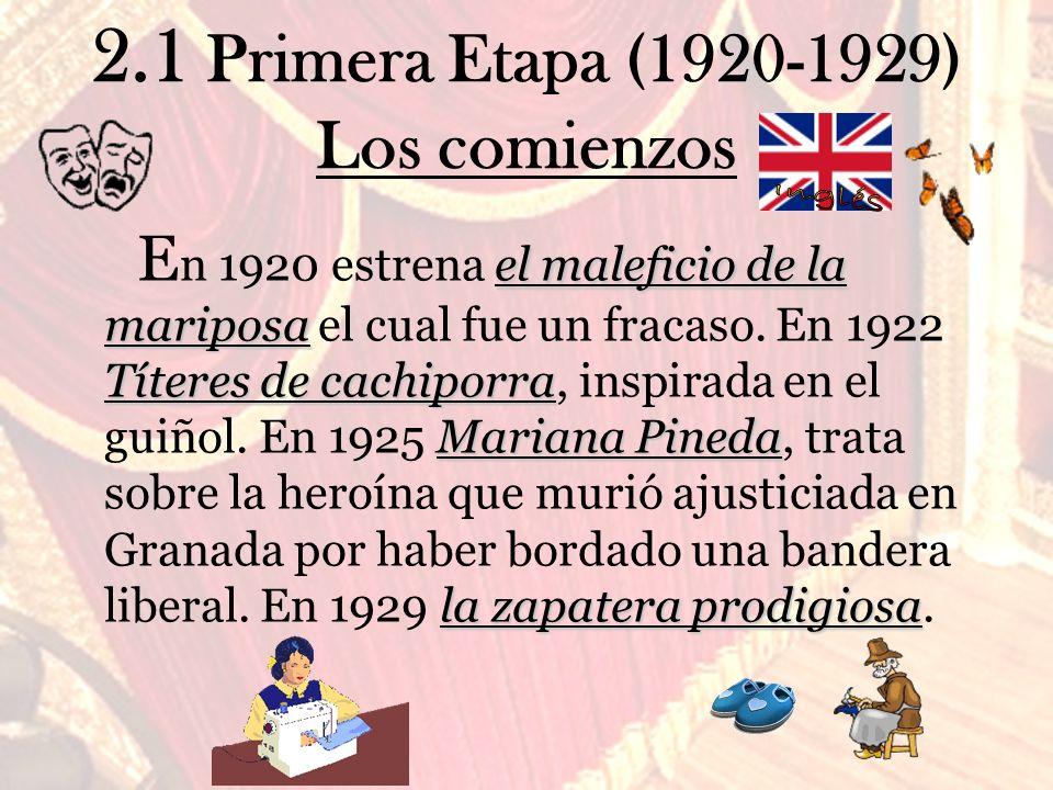 2.1 Primera Etapa (1920-1929) Los comienzos