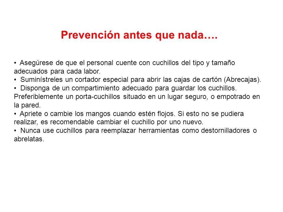Prevención antes que nada….