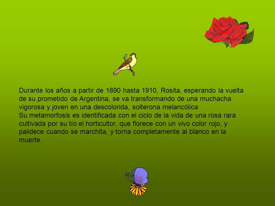 Durante los años a partir de 1890 hasta 1910, Rosita, esperando la vuelta de su prometido de Argentina, se va transformando de una muchacha vigorosa y joven en una descolorida, solterona melancólica