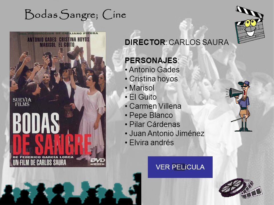 Bodas Sangre; Cine DIRECTOR: CARLOS SAURA PERSONAJES: Antonio Gades