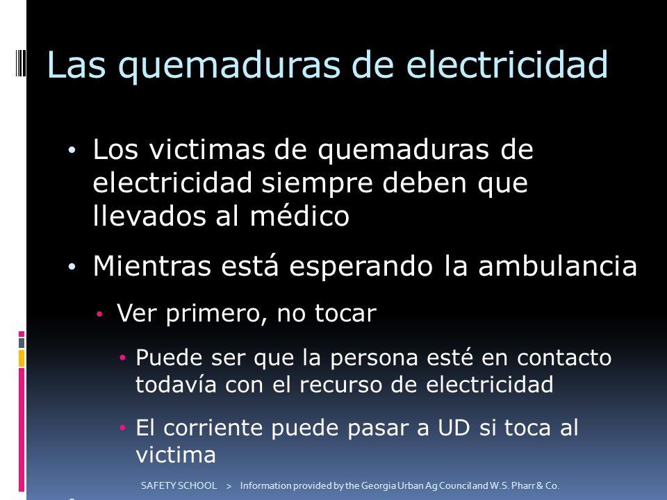 Las quemaduras de electricidad