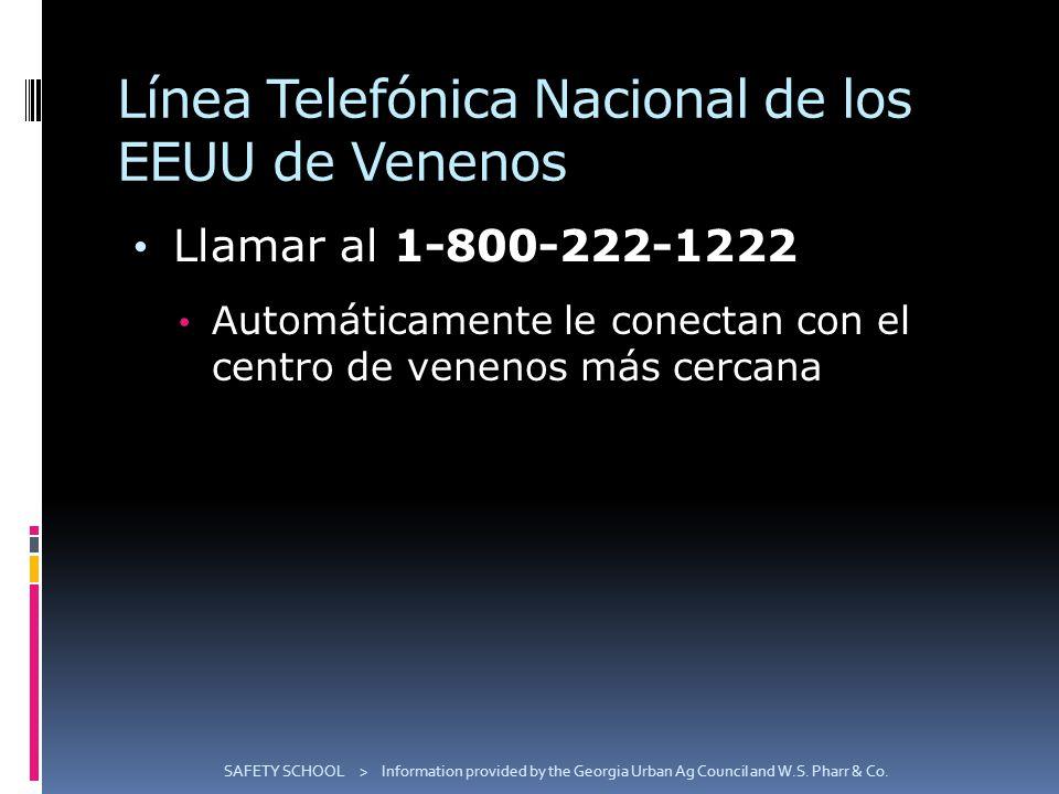 Línea Telefónica Nacional de los EEUU de Venenos
