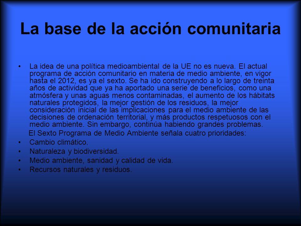 La base de la acción comunitaria