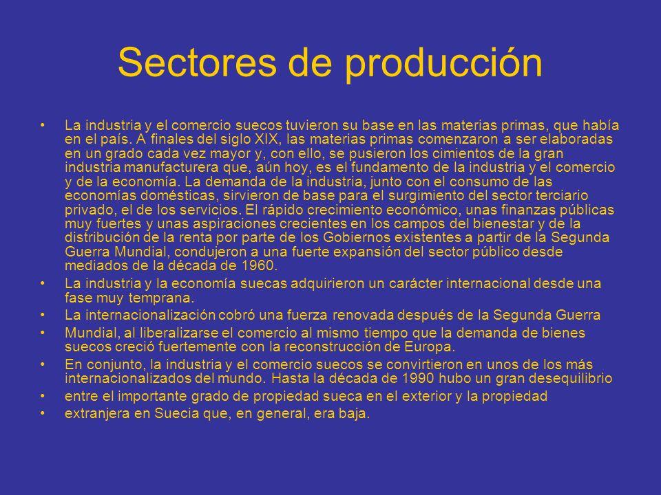 Sectores de producción