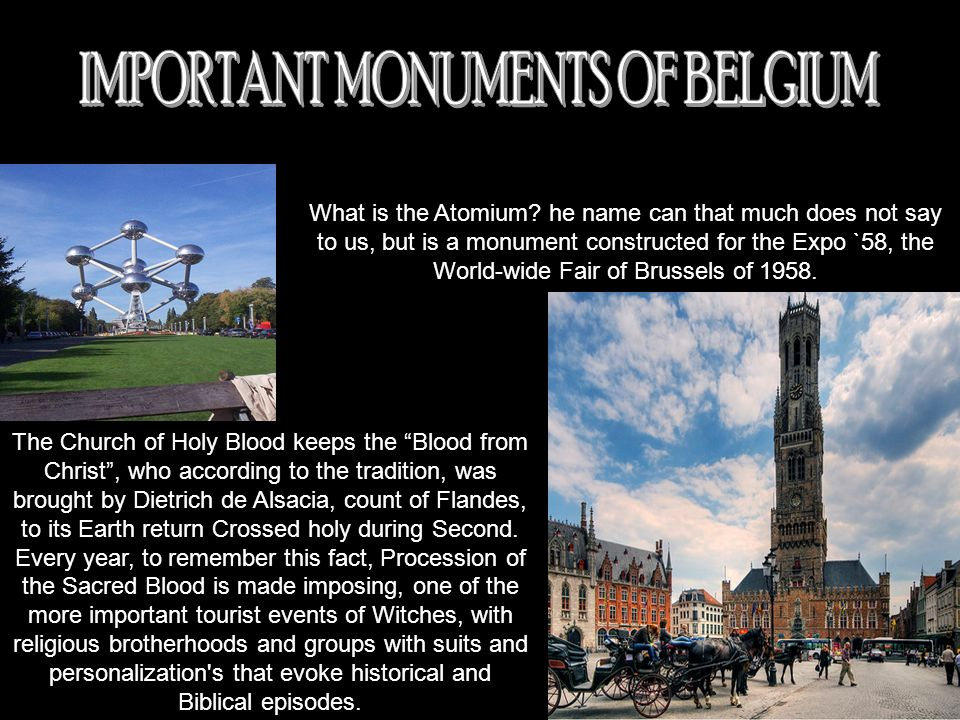 IMPORTANT MONUMENTS OF BELGIUM