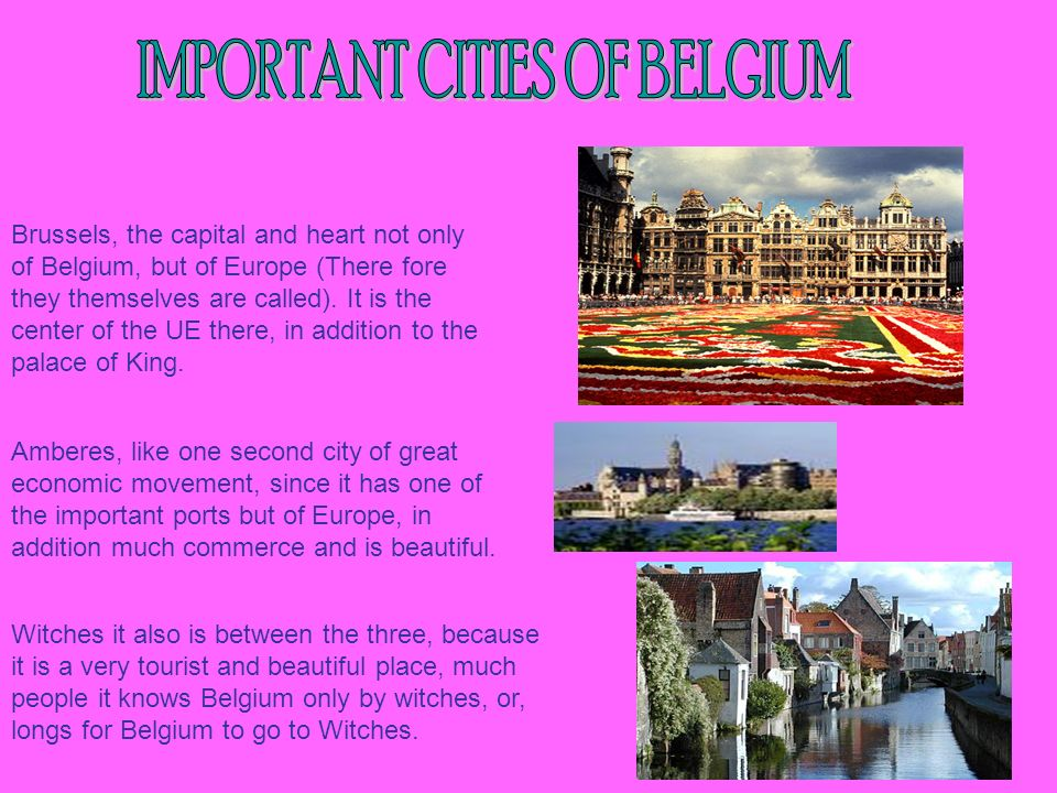 IMPORTANT CITIES OF BELGIUM