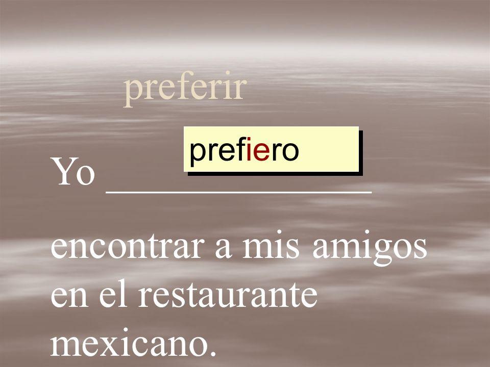 encontrar a mis amigos en el restaurante mexicano.