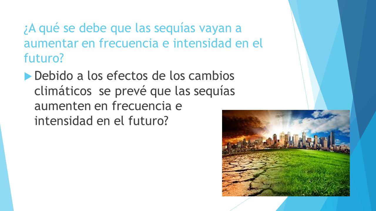 ¿A qué se debe que las sequías vayan a aumentar en frecuencia e intensidad en el futuro
