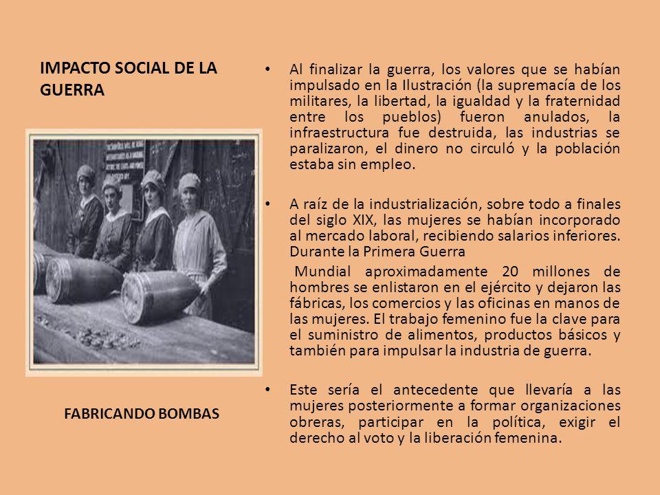 IMPACTO SOCIAL DE LA GUERRA