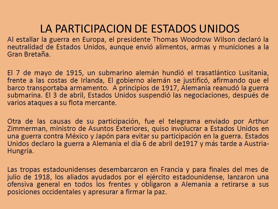 LA PARTICIPACION DE ESTADOS UNIDOS