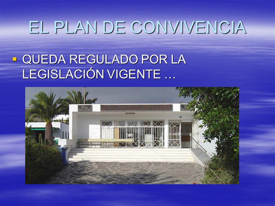 EL PLAN DE CONVIVENCIA QUEDA REGULADO POR LA LEGISLACIÓN VIGENTE …