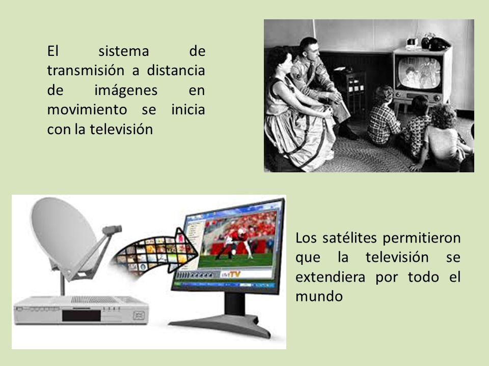 El sistema de transmisión a distancia de imágenes en movimiento se inicia con la televisión