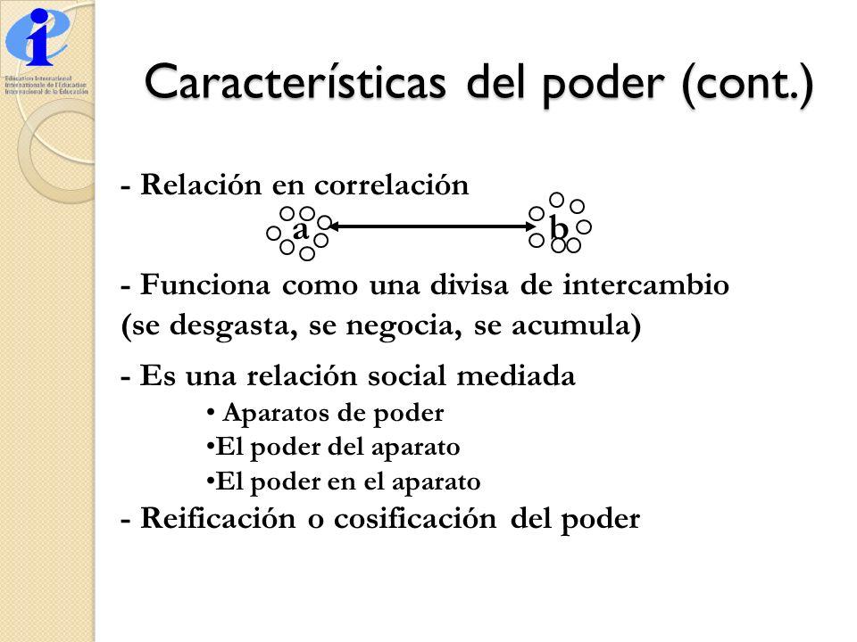 Características del poder (cont.)
