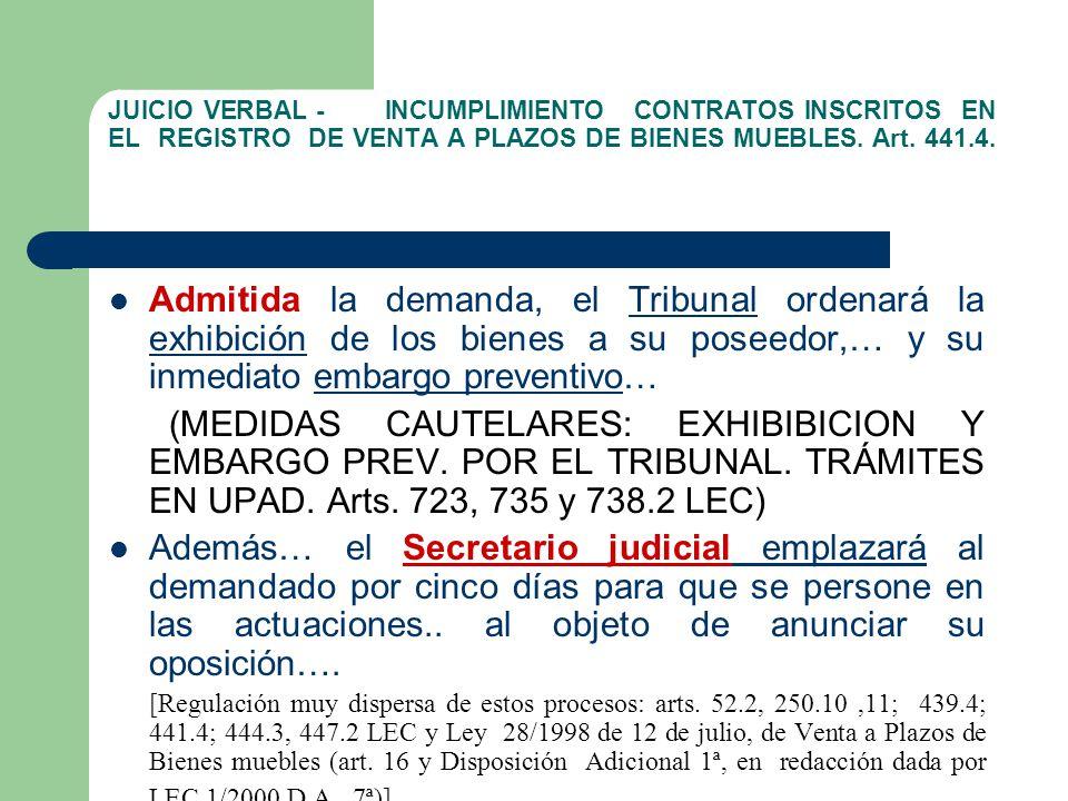 Reformas procesales 2009 procesos declarativos civiles for Registro de bienes muebles de navarra