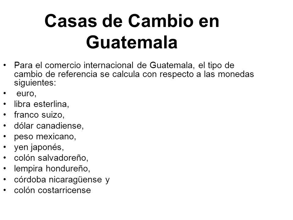 Compra De Divisas En Guatemala