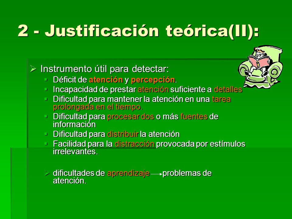 2 - Justificación teórica(II):