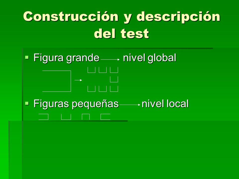 Construcción y descripción del test
