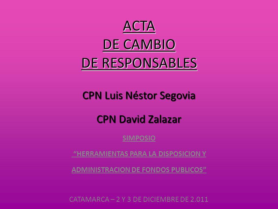 ACTA DE CAMBIO DE RESPONSABLES