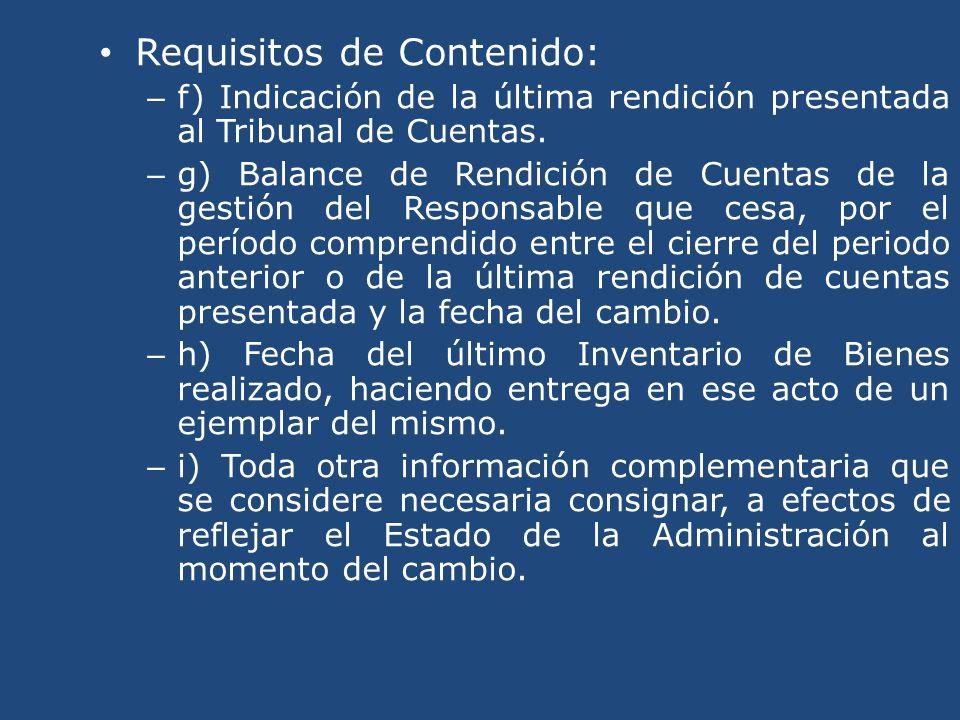 Requisitos de Contenido: